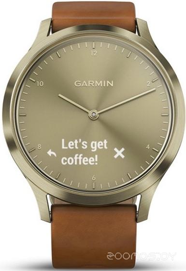 Умные часы Garmin Vivomove HR Premium S/M (Gold-Brown)
