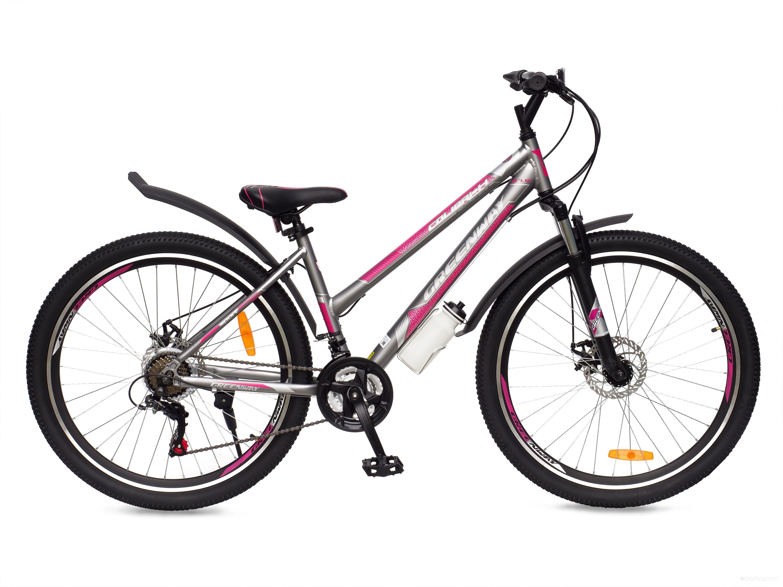 Велосипед Greenway Colibri-H 27.5 (серый/розовый, 2018)