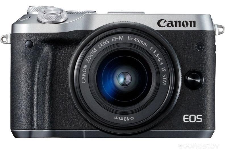 Цифровая фотокамера Canon EOS M6 Kit EF-M 15-45mm f/3.5-6.3 IS STM (Silver)