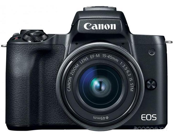 Цифровая фотокамера Canon EOS M50 Kit 15-45mm IS STM (Black)