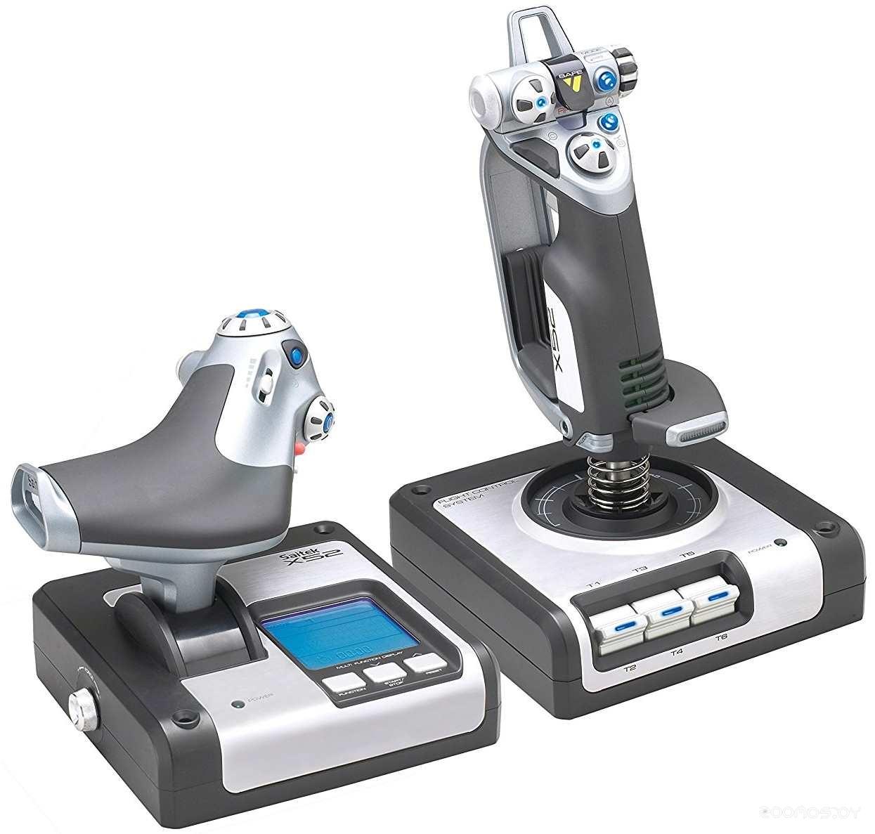 Проводной джойстик Logitech G Saitek X52 Professional Flight Control System