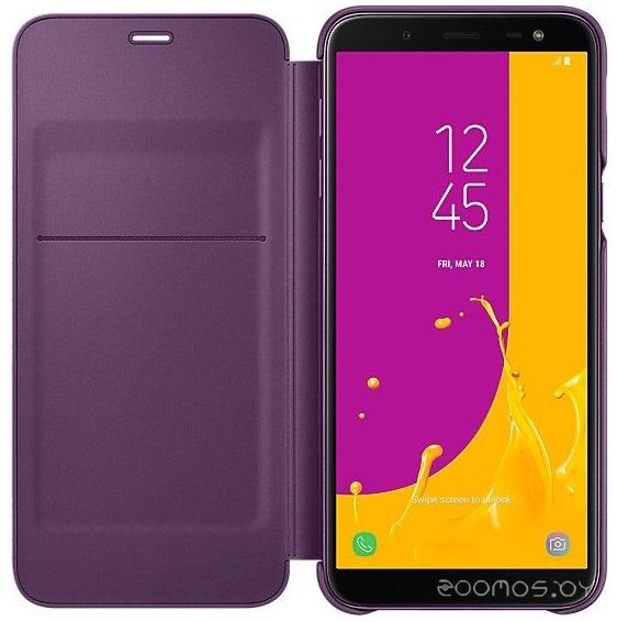 Чехол Samsung Wallet Cover J6 2018 (Violet)
