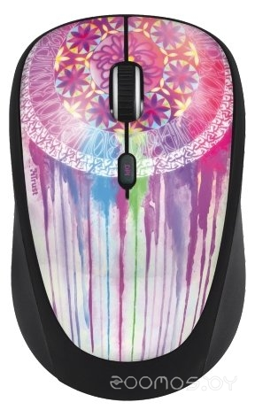 Trust Yvi Wireless Mouse dream catcher Purple USB
