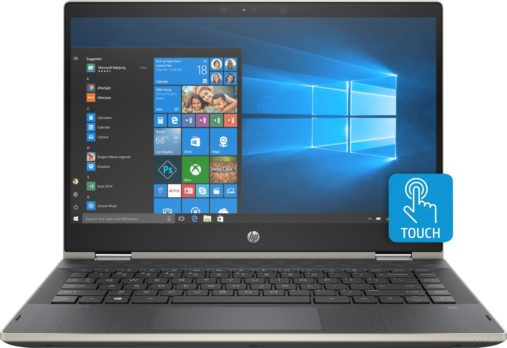 Ноутбук HP Pavilion x360 14-cd0021ur (4MS06EA)