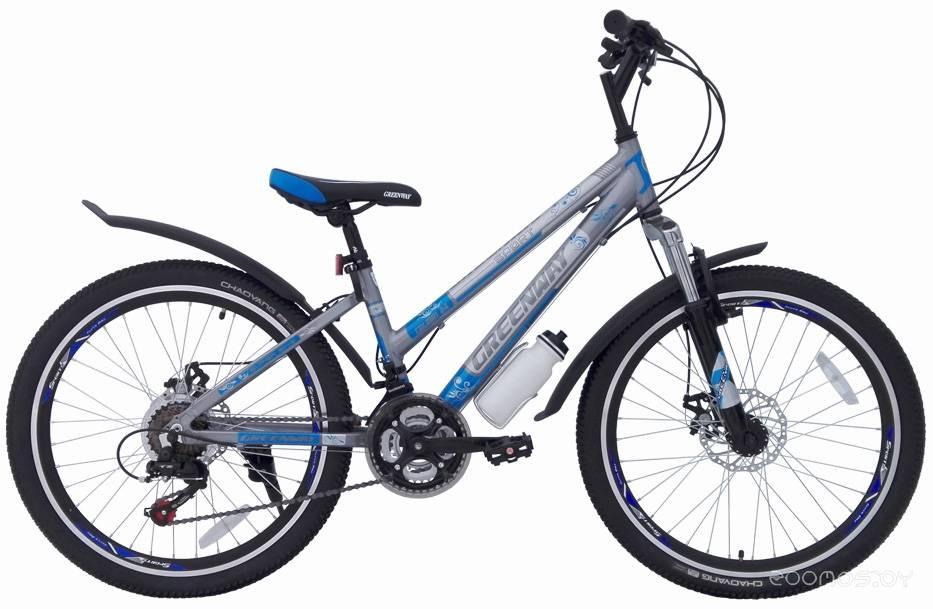 Велосипед Greenway Colibri 24 (серый/голубой, 2018)