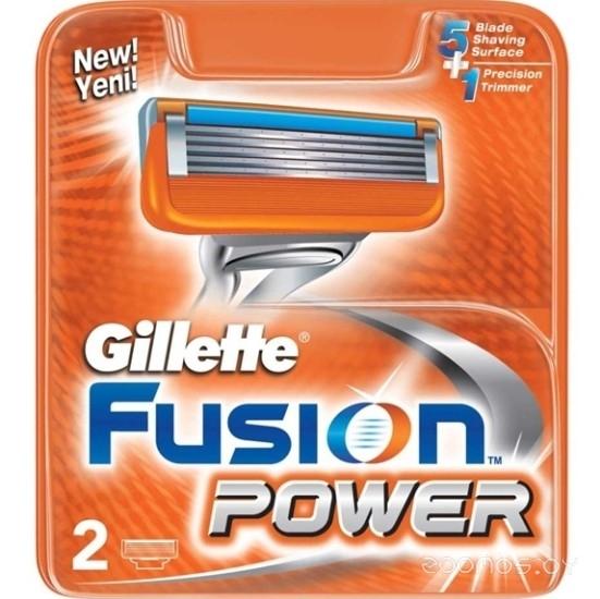 Сменные кассеты Gillette Fusion Power 2 шт