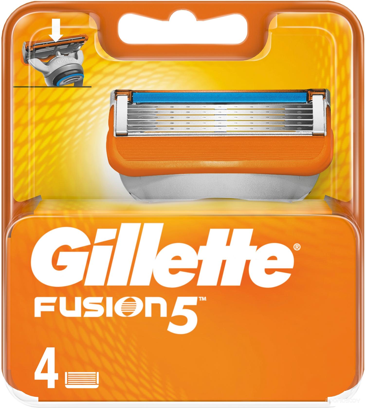 Сменные кассеты Gillette Fusion 4 шт