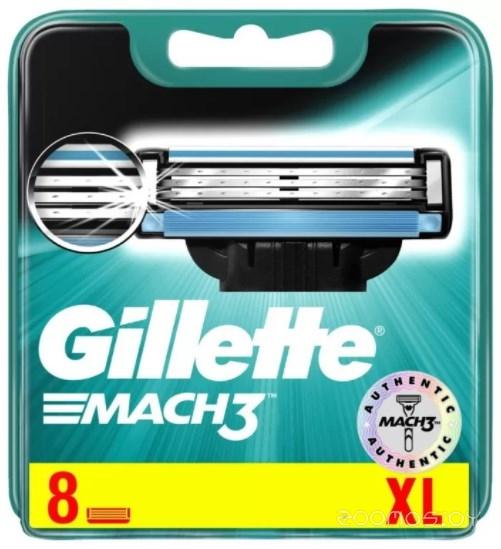 Сменные кассеты Gillette Mach 3 8 шт