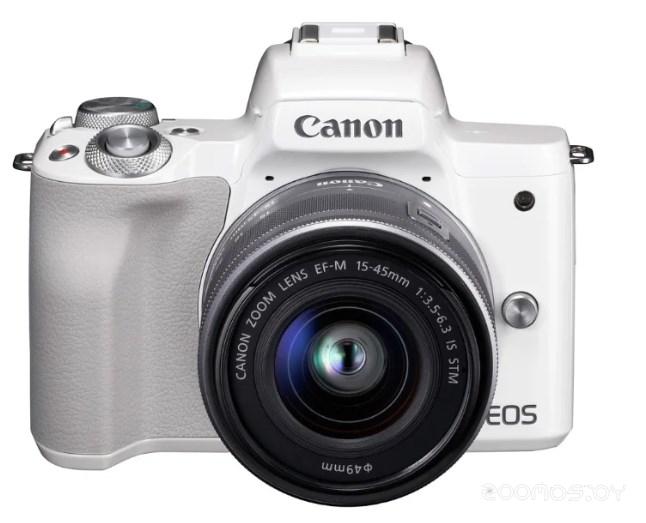 Цифровая фотокамера Canon EOS M50 Kit EF-M 15-45mm IS STM (White)