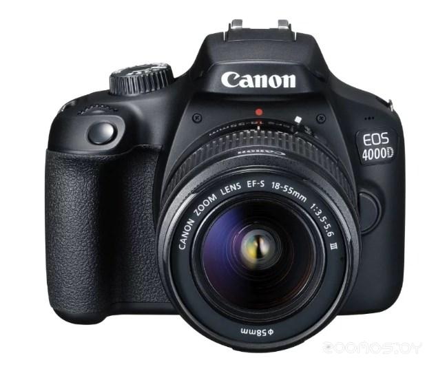 Цифровая фотокамера Canon EOS 4000D Kit EF-S 18-55mm DС III (Black)