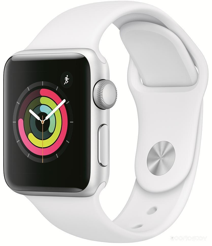 Умные часы Apple Watch Series 3 38mm (Silver Aluminum/White)