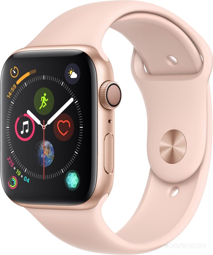 Умные часы Apple Watch Series 4 Sport 40mm Gold Aluminum Case with Pink Sand Sport Band