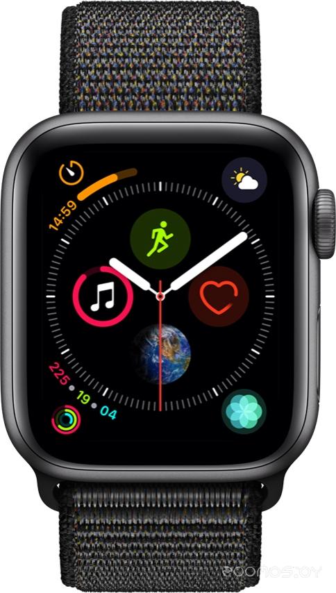Умные часы Apple Watch Series 4 Sport 40mm Space Gray Aluminum Case with Black Sport Loop