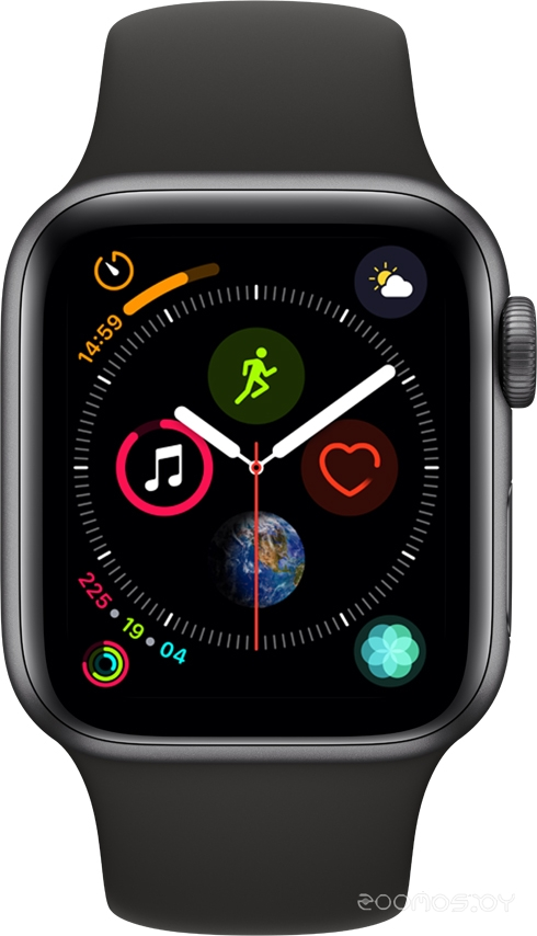 Умные часы Apple Watch Series 4 Sport 44mm Space Gray Aluminum Case with Black Sport Band