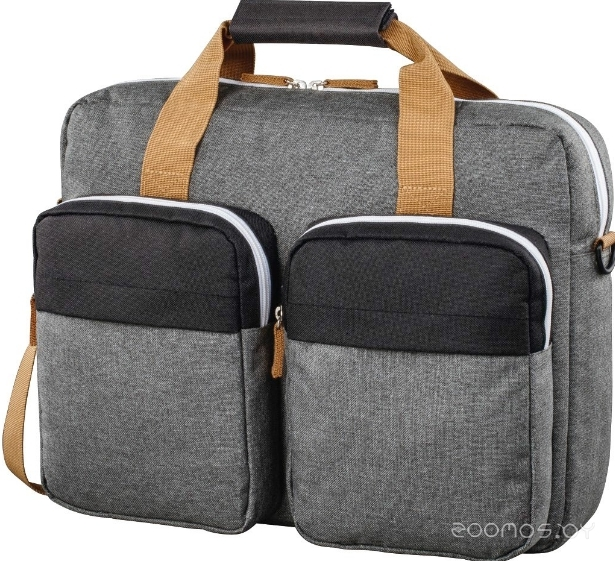 Сумка для ноутбука HAMA Florence II Notebook Bag 15.6 (Black-Grey)