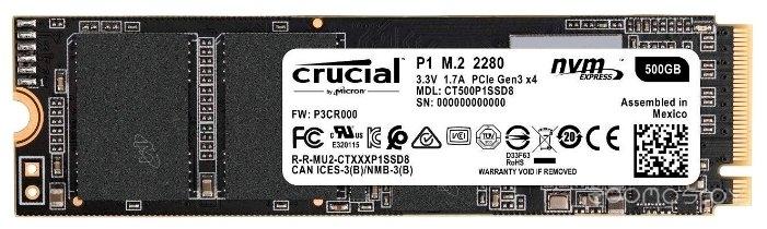 Жесткий диск Crucial CT500P1SSD8