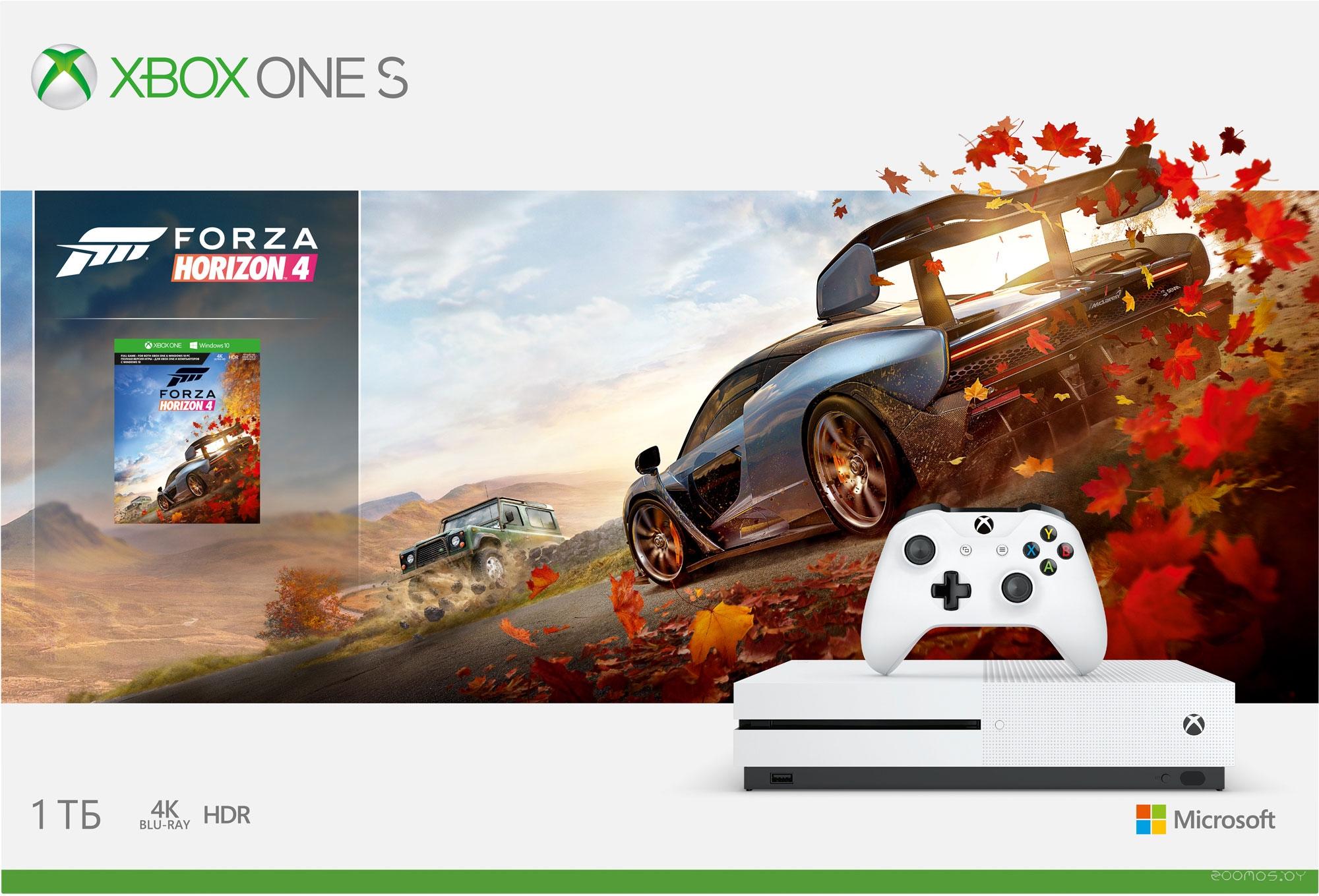 Игровая приставка Microsoft Xbox One S 1Tb+Forza Horizon 4