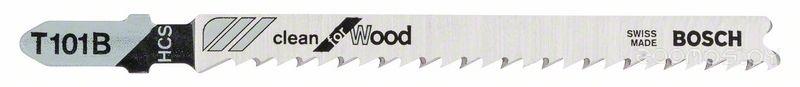 Пилка по дереву для лобзика  Bosch T 101 B Clean for Wood 5шт
