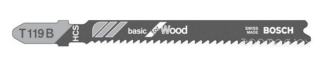 Пилка по дереву для лобзика  Bosch Basic for Wood T 119 B 92 мм 5шт