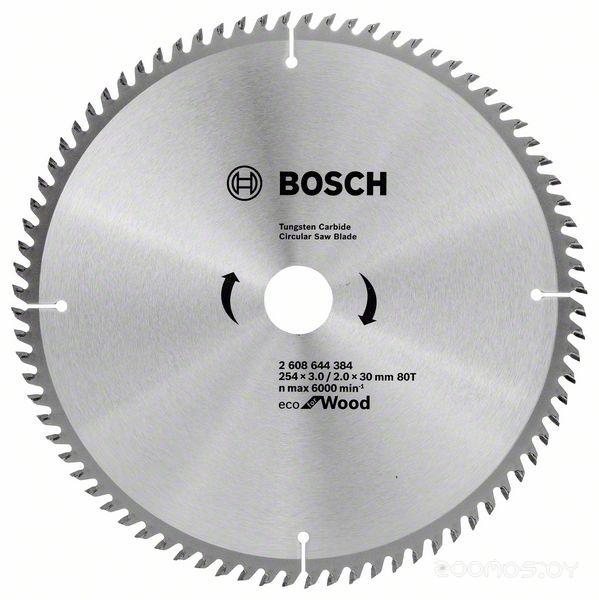 Диск пильный по дереву Bosch Eco for Wood 254x30