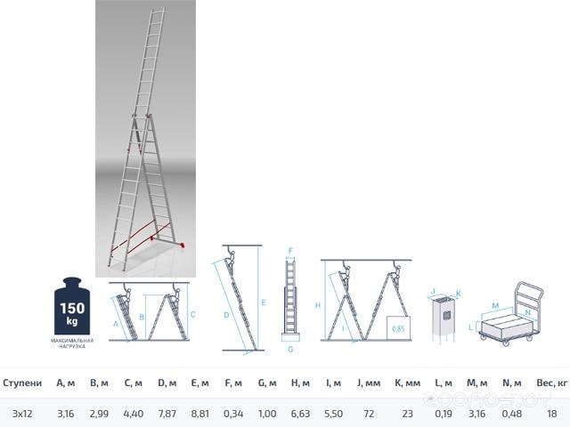 Лестница-трансформер PRO Startul ST9942-12 3x12 ступеней