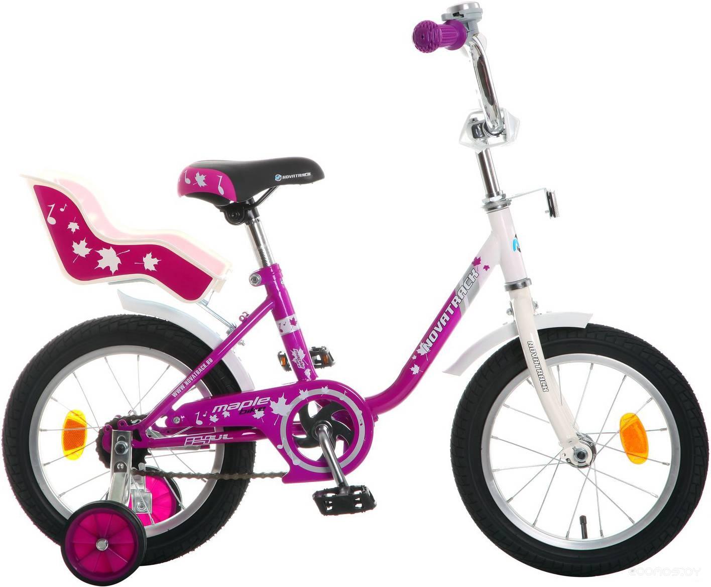 Детский велосипед Novatrack Maple 14 (фиолетовый)