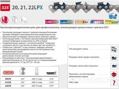 Цепь для пилы Oregon 95TXL 38 см 15 0.325 1.3 мм 64 зв.