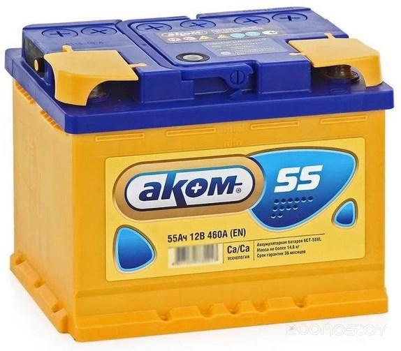 Автомобильный аккумулятор AKOM 6CT-60 Рус (60 А/ч)
