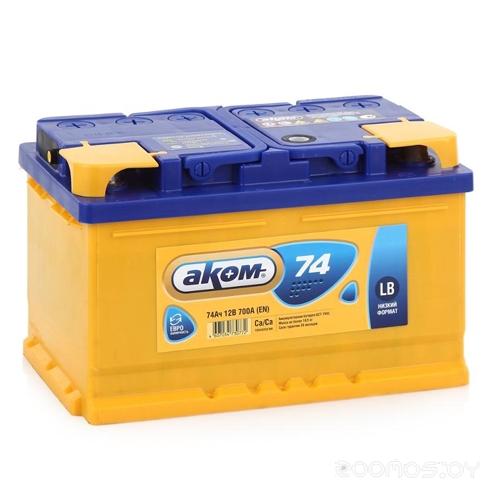 Автомобильный аккумулятор AKOM 6СТ-74 Евро (74 А/ч)