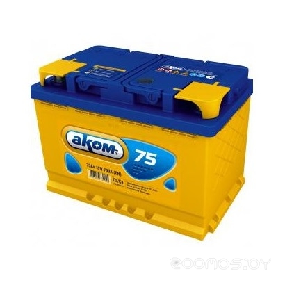 Автомобильный аккумулятор AKOM 6СТ-75 (75 А/ч)