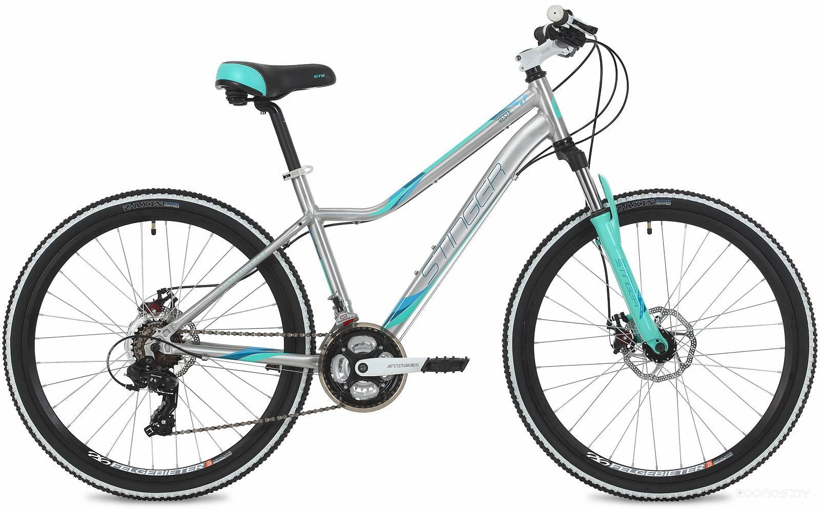 Велосипед Stinger Vesta Evo 26 (серебристый, 2019)