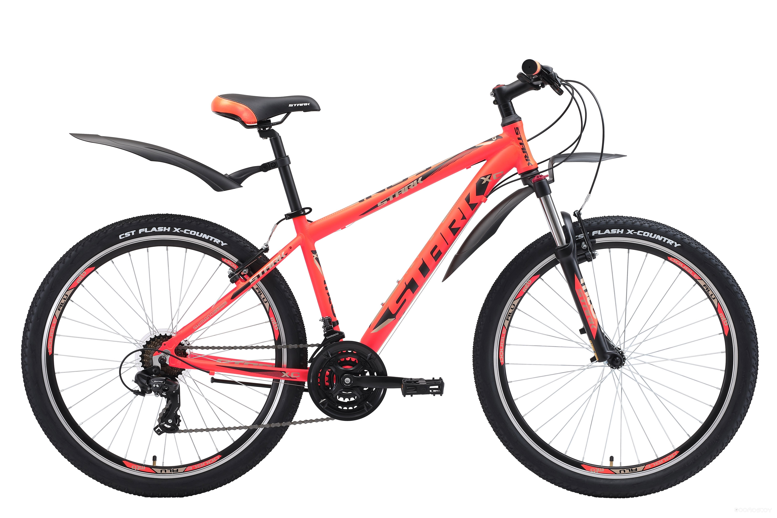 Велосипед Stark Indy 26.2 V (2018) 18 (Orange-Black-Grey)
