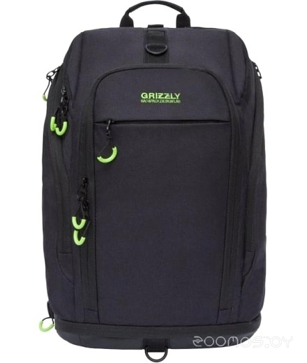 Рюкзак Grizzly RQ-906-1 20 (Black-Light Green)