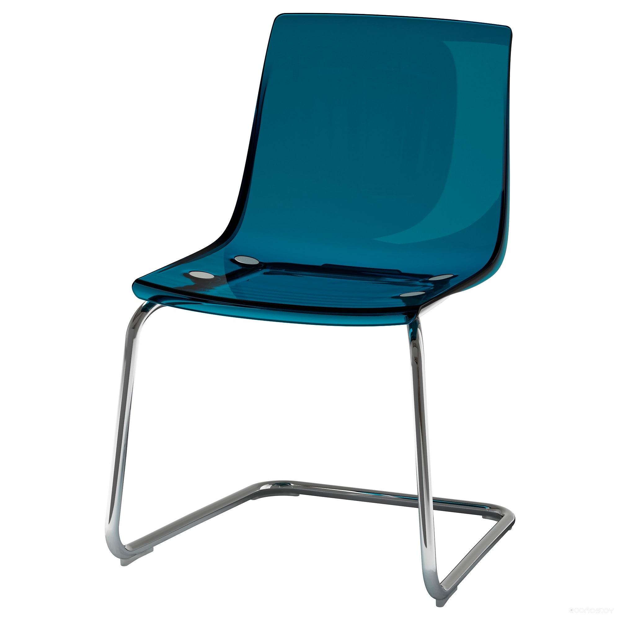 Стул Ikea Тобиас (синий/хром) [203.558.15]