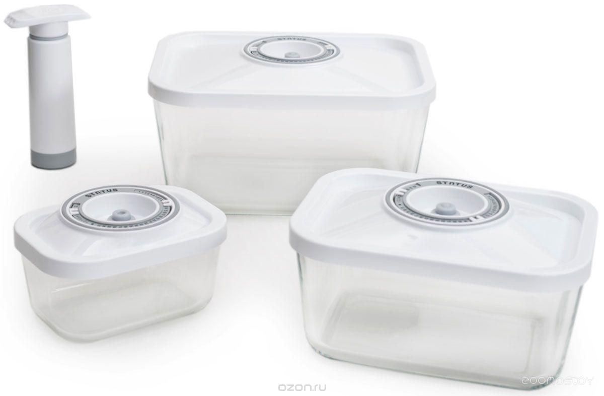 Контейнер для вакуумного упаковщика Status VAC-Glass-Set WH
