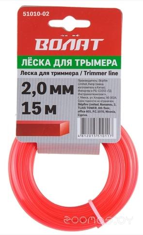 Леска для триммера  Волат 2.0мм х 15м шестигр. сеч.