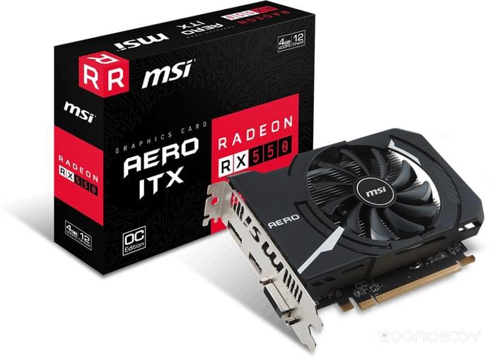Видеокарта MSI Radeon RX 550 Aero ITX OC 4GB GDDR5