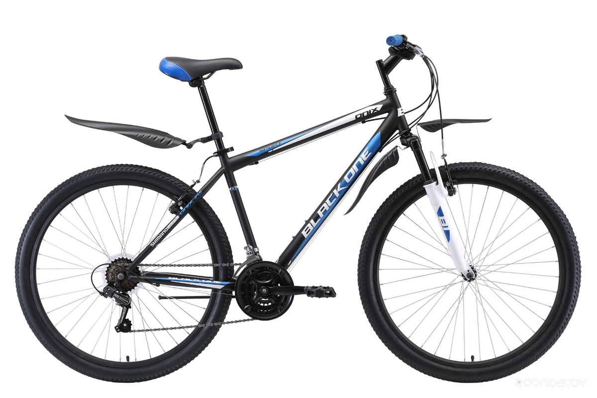 Велосипед Black One Onix 27.5 (2019) 18 (Black-Blue-Silver)