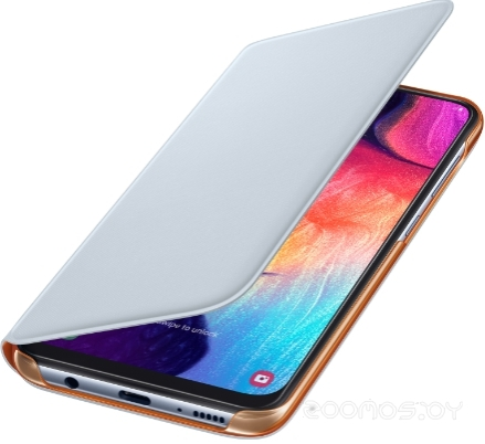 Чехол Samsung Wallet Cover для A50 (White)