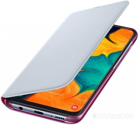 Чехол Samsung Wallet Cover для A30(White)
