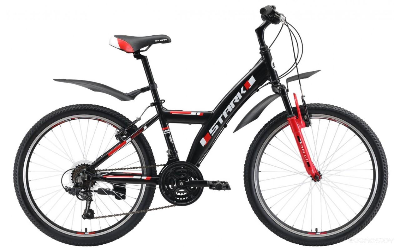 Подростковый горный (MTB) велосипед Stark Rocket Y 24.1 V (черный/красный, 2019)