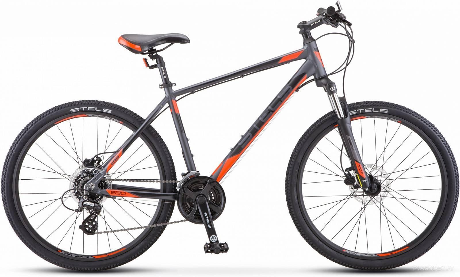 Велосипед Stels Navigator 630 D 26 V010 (антрацитовый/красный, 2019)