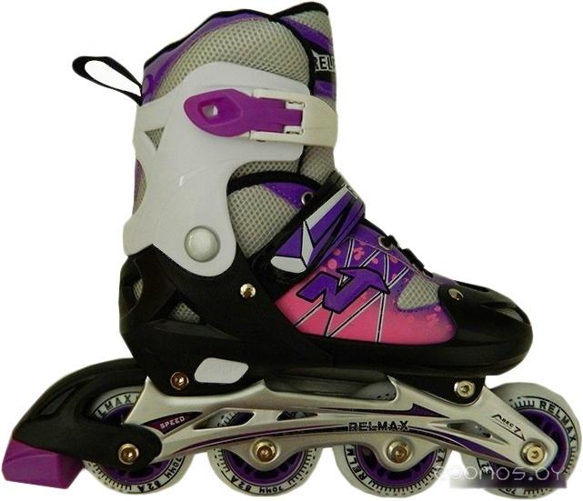Роликовые коньки Relmax TE-261C 34-37 (фиолетовый)
