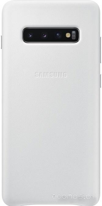 Чехол Samsung Leather Cover для Samsung Galaxy S10 Plus (белый)