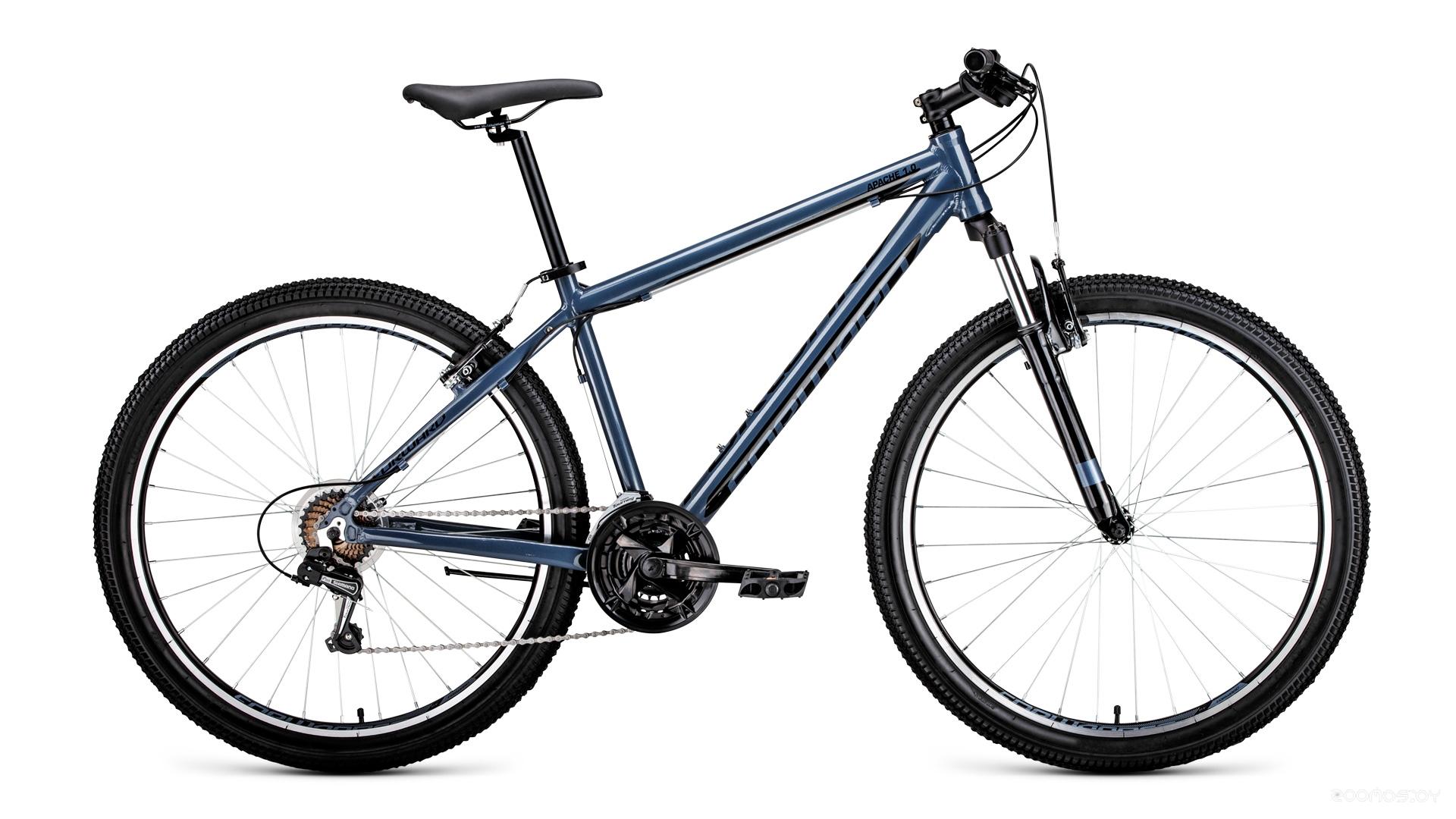 Велосипед Forward Apache 27.5 1.0 (2019) 17 (серый/чёрный)