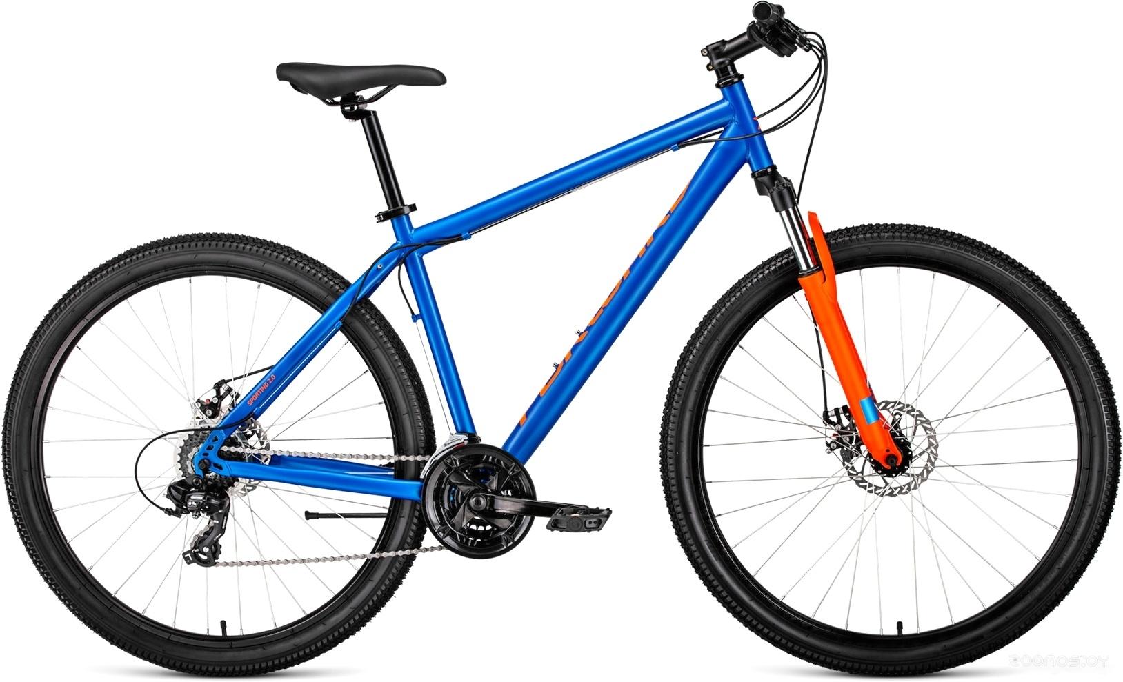 Велосипед Forward Sporting 29 2.0 disc (синий, 2019)