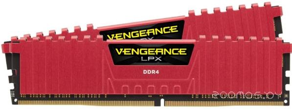 Оперативная память Corsair Vengeance LPX Red 2x4GB DDR4 PC4-21300 [CMK8GX4M2A2666C16R]