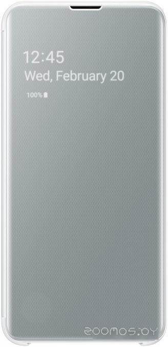 Чехол Samsung Clear View Cover для Samsung Galaxy S10e (белый)
