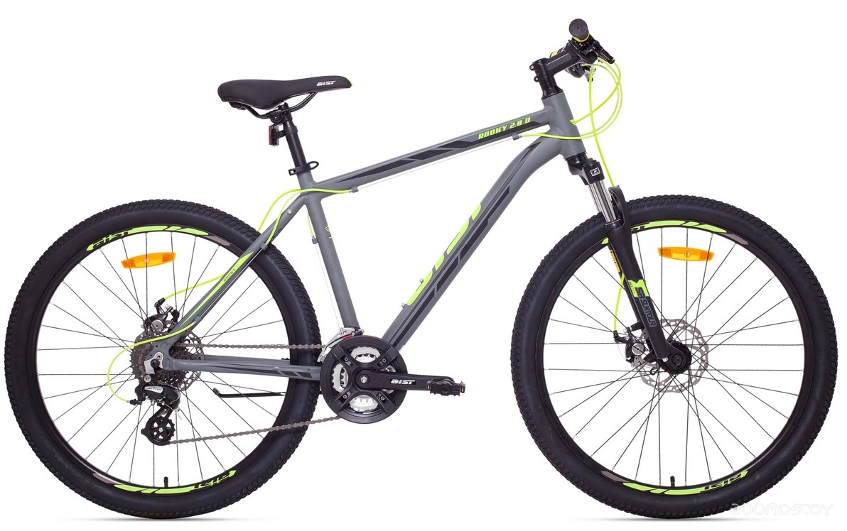 Велосипед Aist Rocky 2.0 Disc 16 (Grey/Lime)