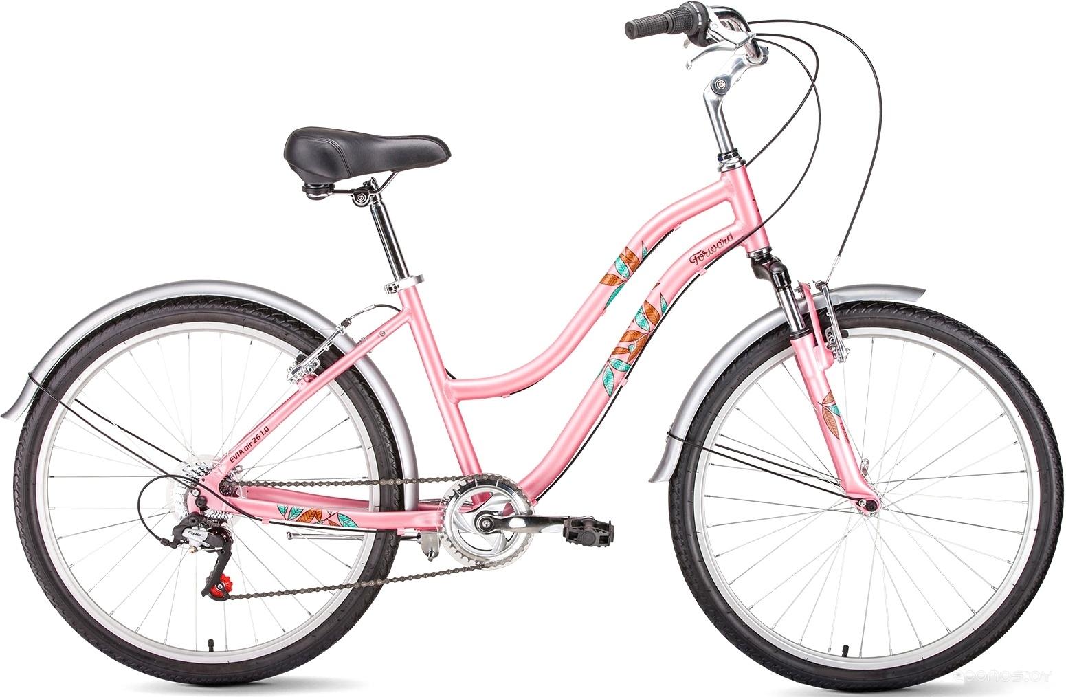 Велосипед Forward Evia Air 26 1.0 (розовый, 2019)